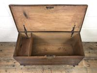 Small 18th Century Antique Elm Six Plank Coffer Chest (5 of 11)