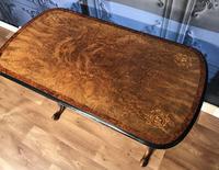 Victorian Burr Walnut & Amboyna Centre Table (13 of 14)