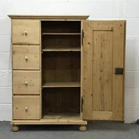 Old Pine Bread Cupboard with Four Drawers (2 of 5)