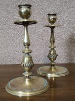 Pair of Brass Arts and Crafts Candlesticks (10 of 12)