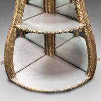 Antique Mirrored Corner Shelf, English, Gilt Gesso, Decorative Display, Regency (7 of 9)