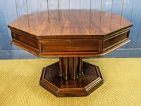 19th Century Mahogany Library Table. Drum or Rent Table (2 of 9)