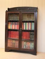 Arts & Crafts Dark Oak Bookcase (7 of 9)