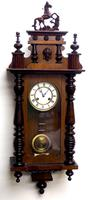Victorian 8-day Wall Clock – Antique Striking Vienna Wall Clock by Hac (3 of 14)
