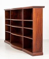 Victorian Mahogany Triple Open Bookcase (3 of 8)