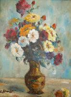 1930s Oil Painting Vase of Flowers (2 of 7)