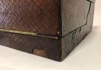 Antique Victorian Leather Writing Document Box (16 of 19)