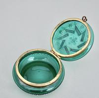 19th Century French Enamelled Glass Trinket Box c.1890 (5 of 7)