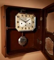 A Westminster Girod Carillon Oak, Rosewood Wall Clock French Circa 1955 (8 of 11)