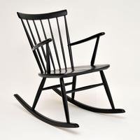 1960's Vintage Swedish Rocking Chair by Roland Rainer