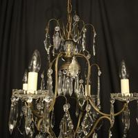 French Gilded Birdcage 5 Light Antique Chandelier (8 of 10)