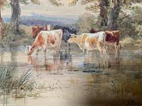 H Earp Senior - Set of Three Watercolours of cattle c1890 (6 of 7)