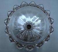 Small English Victorian Glass Tazza - 1891 (5 of 9)