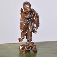 Fine Qing Period Chinese Carving of a Peasant