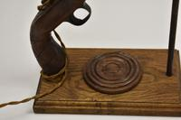 19th Century Long Hexagon Barreled Pistol Converted to a Lamp (18 of 18)