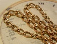 Victorian Pocket Watch Chain 1890s Antique 18ct Rose Rolled Gold Albert With T Bar (4 of 10)
