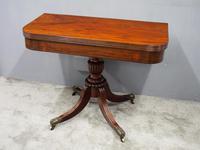 Scottish Mahogany Foldover Tea Table (8 of 11)