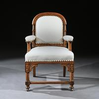 19th Century Oak Gothic Armchair By G Tilley Of Birmingham (3 of 10)