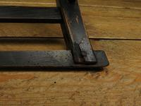 Small Antique Wooden Black Painted Chair, Gothic Shabby Chic (6 of 13)