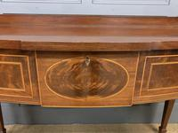 Inlaid Mahogany Serpentine Fronted Serving Table (4 of 14)