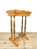 Antique Satin Birch Tray Top Side Table (2 of 10)