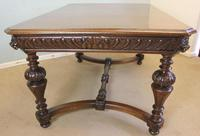 Antique Carved Oak Dining Centre Table (4 of 12)