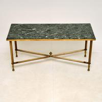 Vintage Brass & Marble Coffee  Table (2 of 9)