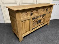 French Gothic Bleached Oak Sideboard (11 of 17)
