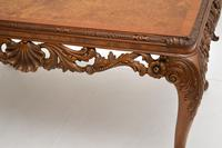 Antique Burr Walnut Queen  Anne Style Coffee Table (8 of 10)