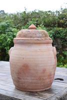 Large Earthenware Lidded Storage Jar (3 of 10)