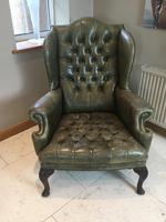 Stylish Pair of Large 18th Century Style Vintage Wing-back Armchairs (7 of 14)