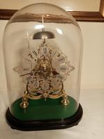 Passing Strike Skeleton Clock. Original Glass Dome (3 of 7)
