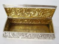 Late Victorian Rectangular Silver Jewellery or Trinket Box (5 of 6)