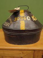 Antique Military Hat Tin Trunk, Lieutenant P Montgomery, A Quirky Bread Bin? (6 of 12)