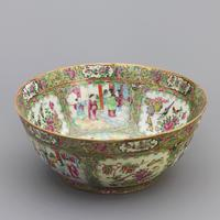 19th Century Cantonese Famille Rose Porcelain Bowl c.1880 (6 of 8)