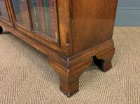Good Burr Walnut Glazed 2 Door Bookcase (15 of 15)