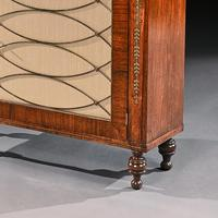 Fine Regency Brass Inlaid Rosewood Chiffonier Of Narrow Proportions (5 of 7)