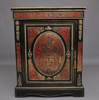 19th Century Ebonized Boulle Pier Cabinet