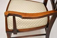 Antique Edwardian Mahogany Armchair (3 of 10)