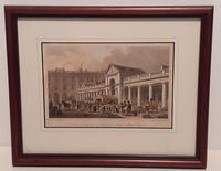 """Antique Print """"Covent Garden Market"""", 1840's"""