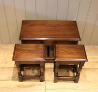 Solid Oak Nest of Tables (5 of 11)