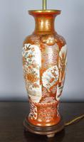 Antique Japanese Kutani Vase Meiji Lamp (3 of 10)