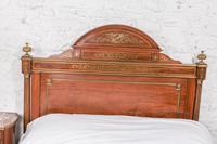 Incredible Mahogany & Brass Napoleon II Double Bed (7 of 10)
