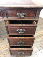 Antique Oak Pedestal Partners Desk (5 of 9)