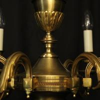 French Gilded Bronze 6 Light Chandelier (7 of 10)