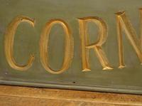 Large Antique Wooden Corn & Seed Sign, Decorative Shop Sign (3 of 13)