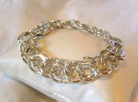 "Vintage Sterling Silver Bracelet 1950s Forstner Usa 7 1/2"" Length 38.2 Grams (2 of 11)"