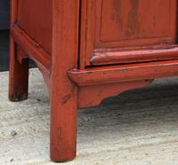 Excellent Pair of Chinese Red Lacquered Cabinets / Cupboards c.1900 (12 of 15)