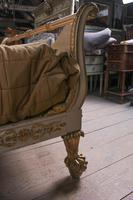 Very Rare Renaissance Style Sleigh Bed with Parcel Gilt (13 of 15)