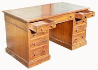 Superb Quality Victorian Mahogany Pedestal Desk (5 of 7)